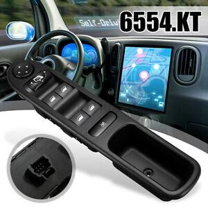 Interrupteur-Commande-Leve-Vitre-Electrique-6554-KT-pour-Peugeot-307-307CC-307SW