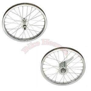 NEW-Lowrider-Bike-Bicycle-Wheel-16-034-x-1-75-034-Steel-28-Spoke-Front-amp-Rear-Wheel