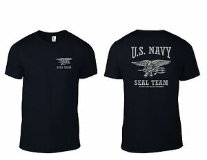 U.S. NAVY SEAL TEAM T-Shirt The Only Easy Day Was Yesterday B G T ... 0b44bd671c1