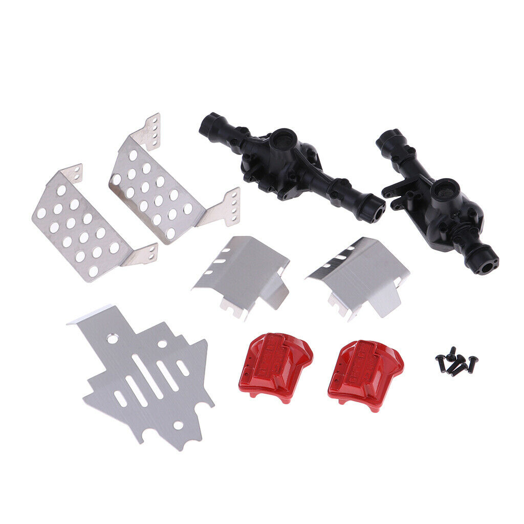 Metal Front and Rear Axle Housing Parts Set for Traxxas TRX-4 RC Car Crawler