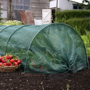 2 X 3M GROW TUNNEL COVER NET GARDEN CLOCHE VEGETABLE PROTECTION PLANT GROUND NEW