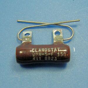 Clarostat-15-Ohm-5W-5-Wirewound-Power-Resistor-Axial-Wire-Lead-Ceramic-Case-NEW
