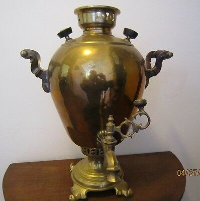 Rare Amazing Antique Russian Imperial Bronze Samovar / Tea Coffee urn. Batashev!