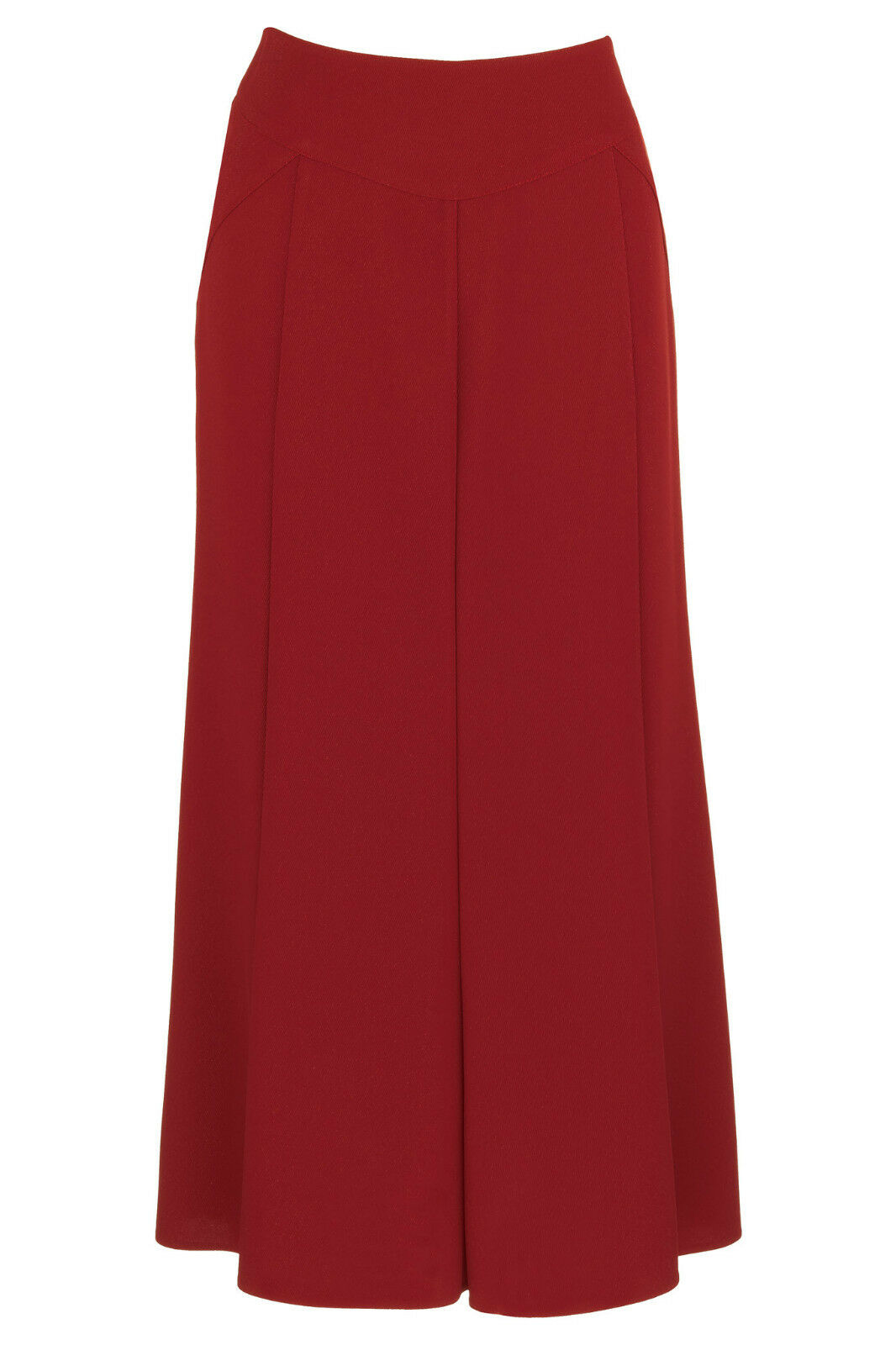 Busy Sparkle Red Long Flared Skirt