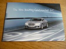 "BENTLEY CONTINENTAL GT PRESS PACK "" Brochure ""  jm"