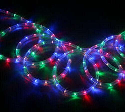 24m Led Neon Multi Color Flexible Tira de Luz de la Cuerda Tubo En Exterior Navidad