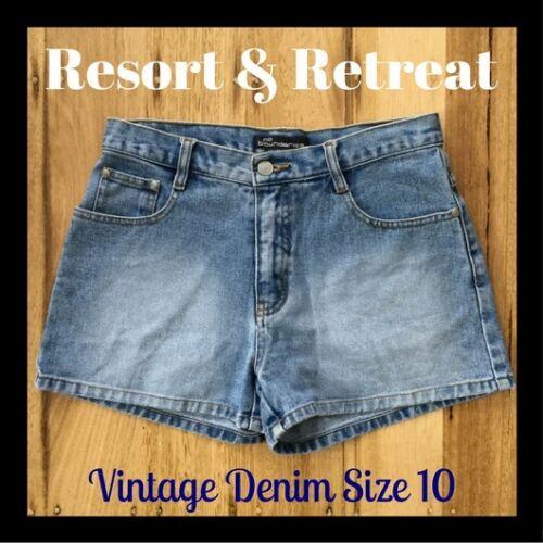 alta di ottime preloved Pantaloncini vita jeans taglia 10 condizioni CFwTwqvt