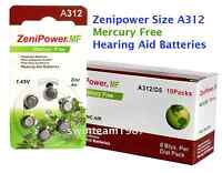 60 Zenipower Hearing Aids Aid Batteries Size 312 Mercury Free Expire 2019