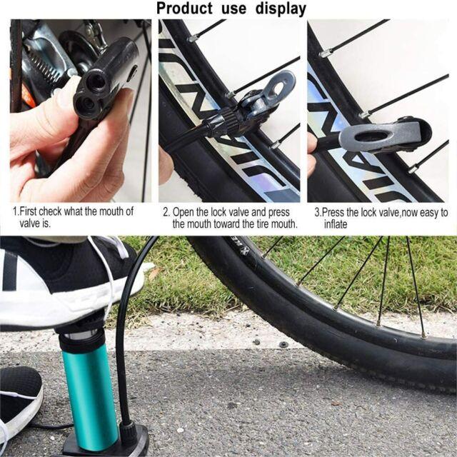 Addmotor Bike Pump Mini Portable Bicycle Foot Pump Pressure Gauge Tire Air Pump