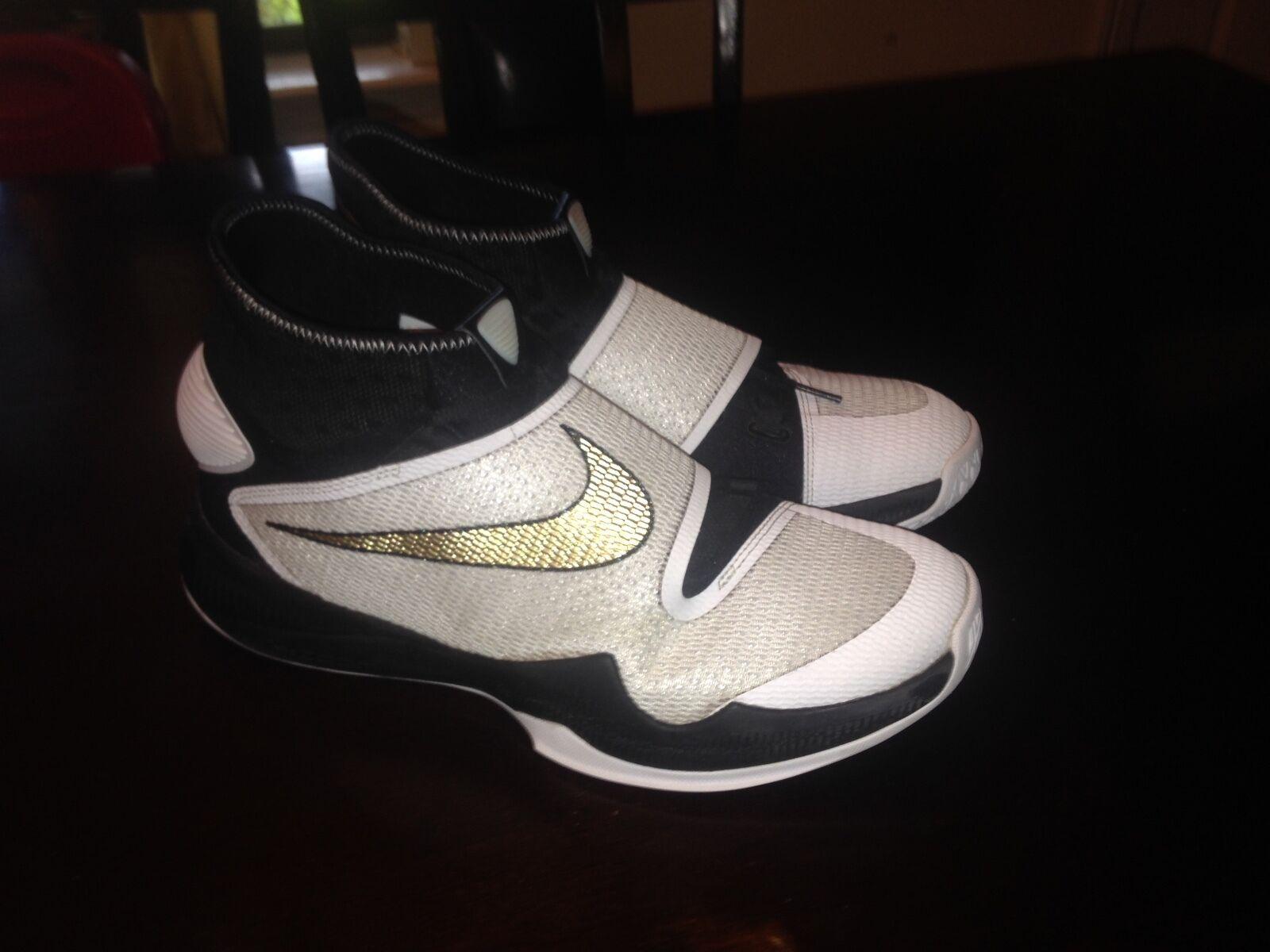 Nike Nike Nike Zoom HyperRev 2016 Basketball Shoes Black White Gold 820224-071 Men's 11 d73f36
