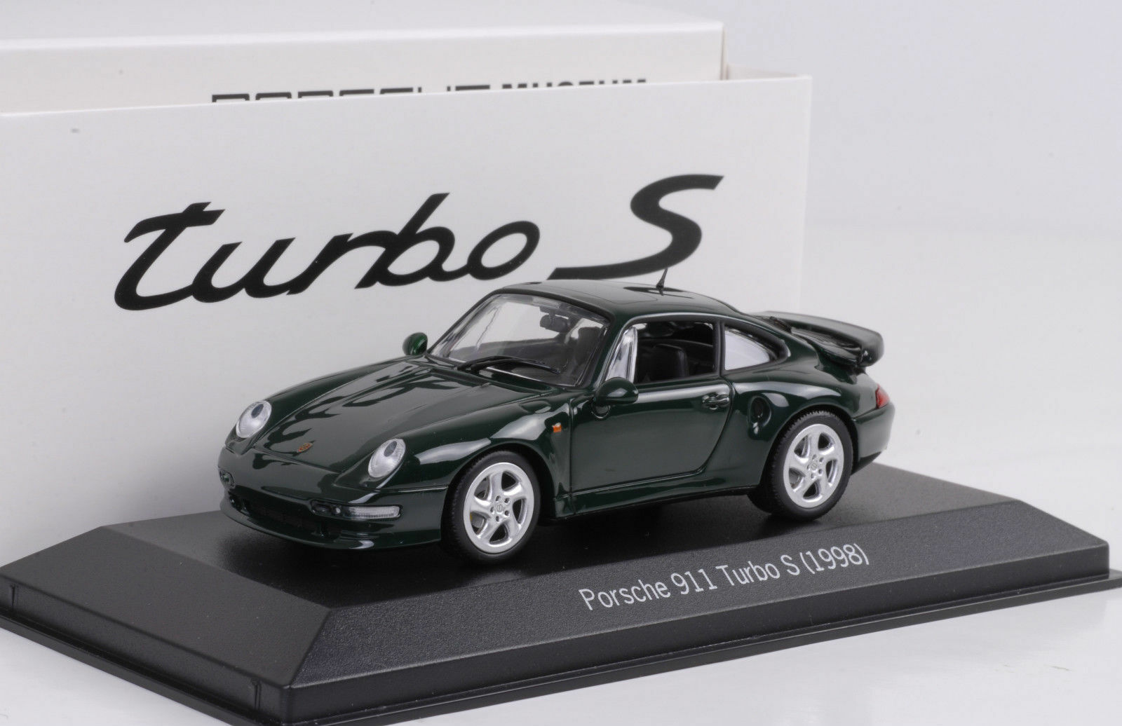 1 43 Porsche 911 993 TURBO S 3.6 darkvert vert 1998 MINICHAMPS MODELE Musée