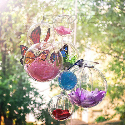 Clear Christmas Bauble Hanging Hollow Drop Ball Wedding Party Ornaments Dia 12cm