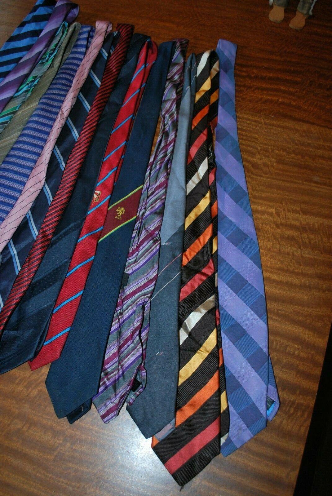 15 x various coloured striped Tie's job lot bulk buy 8