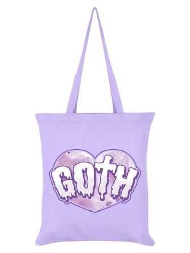 pink heart purple shopping sac Gothic Horror Emo Pastel Goth Tote Bag Lilac