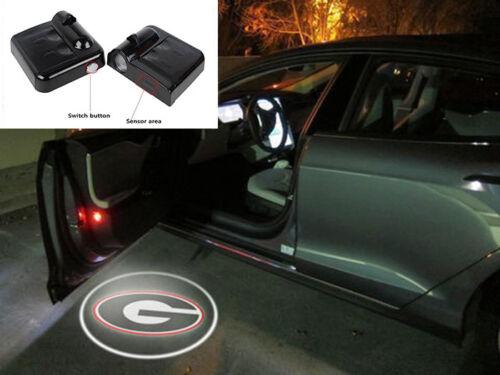 2PCS WIRELESS LED CAR DOOR LIGHT FOR UNIVERSITY OF GEORGIA LOGO CHIPS LAMP