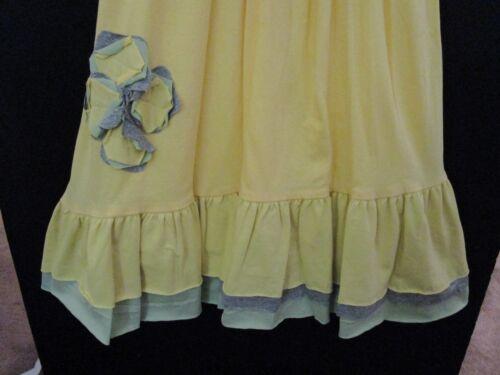 GIRLS DRESSES YELLOW CITRUS SPLASH EMPIRE WAIST ZIP BACK /& SASH BOUTIQUE