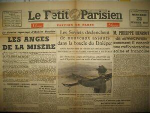 WW2-P-HENRIOT-RADIO-FRANCAISE-FRONT-EST-LE-PETIT-PARISIEN-23-02-1944