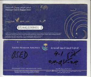 GULF-AIR-SAUDI-ARABIA-AIRWAYS-2-PASSENGER-TICKET-AND-BAGGAGE-CHECK