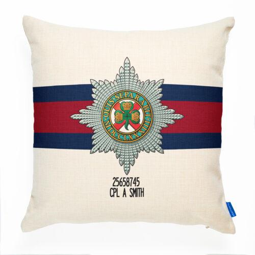 La cubierta Cojín guardias Irlandés Regalo Personalizado militar británica MC69