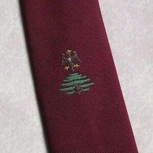 Le Prix Le Moins Cher Vintage Cravate Homme Cravate Crested Club Association Société Arbre & Oiseau-afficher Le Titre D'origine