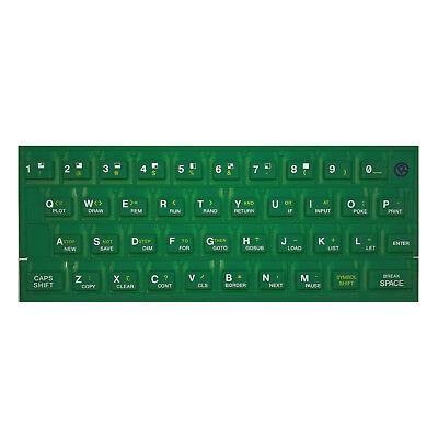 Tappetino In Gomma Tastiera Verde Per Sinclair Zx Spectrum 16k/48k Retro Nuovo- I Cataloghi Saranno Inviati Su Richiesta