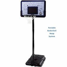 "Portable Basketball Hoop System Adjustable Height Pro 44""Backboard Outdoor Court"