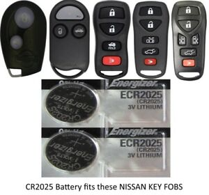 2 Pk Remote Key Fob /& Smart Keyfob Energizer CR2032 Lithium Battery for DODGE