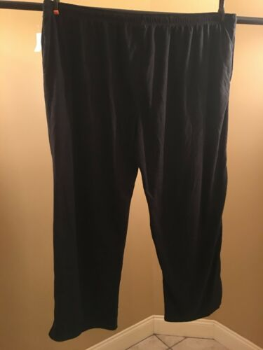 Hanes big men/'s fleece sleep pants Black size options 3XL 5XL