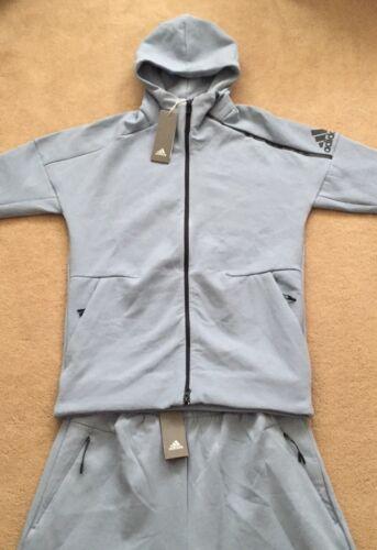 NEW Mens Adidas ZNE KN FZ Hoodie /& Shorts SET Casual Gym Sports Ltd Edition Blue