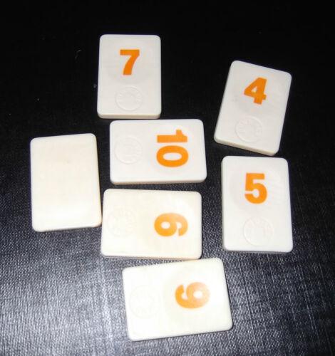 RUMMIKUB spare number tile PLAIN back TRAVEL size  choose colour//no.
