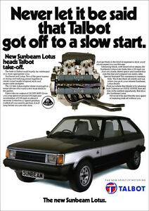 SUNBEAM-LOTUS-TALBOT-RETRO-A3-POSTER-PRINT-FROM-CLASSIC-70-039-s-80-039-S-ADVERT