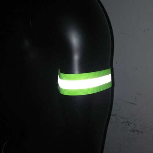 2 Reflective night Safety Hi Visibility Armband Ankle Band running cycling 1pair