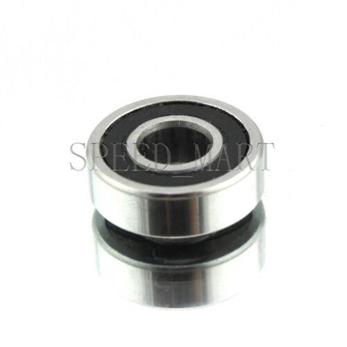 "R3 0.187/""x 1//2/""x 0.195/"" Rubber Shielded  Ball Bearings R3-2RS 2 PCS"