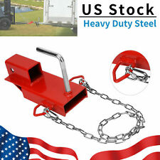 2 Clamp On Forklift Hitch Receiver Trailer Towing Adapter Attachment With Chain