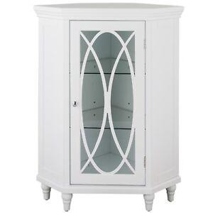 Corner Floor Cabinet With Gl Door