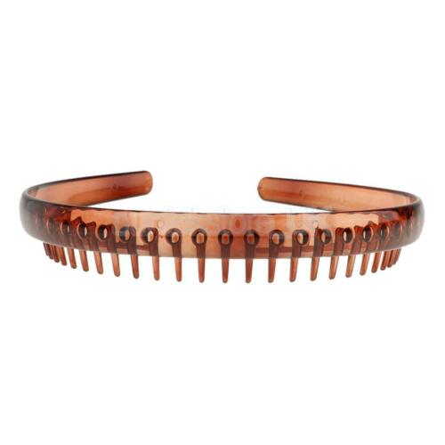 New Resin Toothed Headband Alice Band Hair Band Comb Women Girl Men Accessory