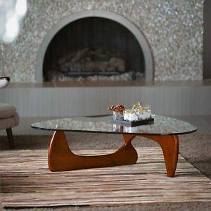 Noguchi Coffee Table Replica High Quality Reproduction Glass Top Wood Cherry Ebay