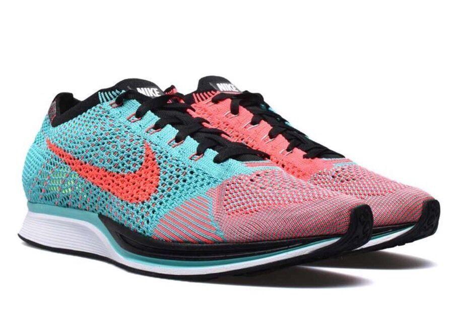 New Men's Nike Flyknit Racer Hyper Jade Punch Size 12.5 526628 306