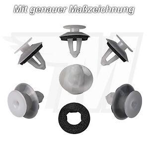 10x Tür Verkleidung Befestigung Clips + Dichtung für Mercedes-Benz | A0069884378