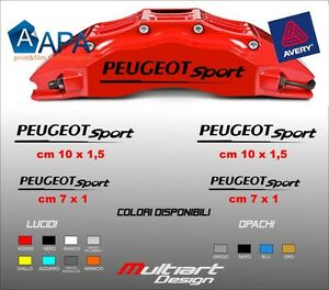 kit 4 adesivi peugeot sport sticker per pinze freno 106. Black Bedroom Furniture Sets. Home Design Ideas