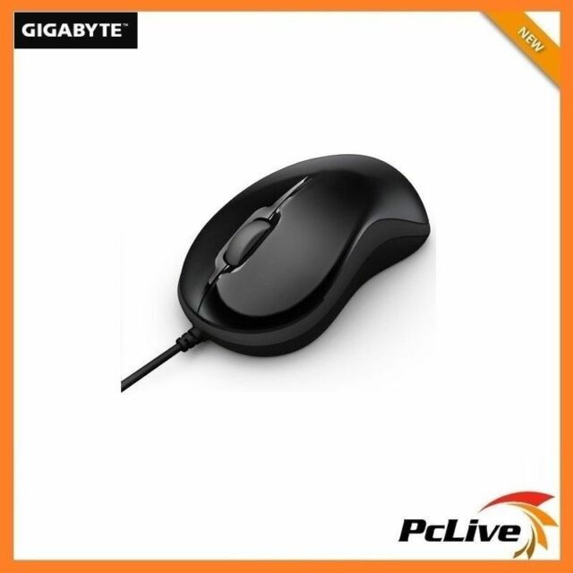 NEW Gigabyte M5050 Curvy Optical Mouse USB Scroll Black for Computer PC Laptop