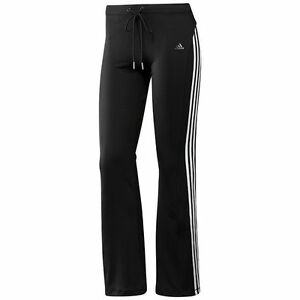 Girls-Black-Adidas-Track-Suit-Bottoms-Pants-Size-8Y-Climalite-Gym-P-E-Sport-NEW