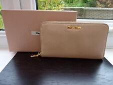 100% Authentic PRADA / MIU MIU Nude / Beige Leather Purse Wallet !LOOK INSIDE!