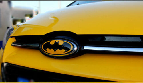 7x Car Decal Reflective Batman for Focus Front Rear Steering Cap Tyre wheel Hub