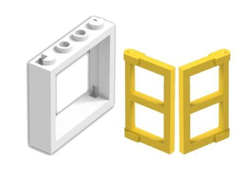 ☀️LEGO LOT OF 12 NEW WHITE 1 X 4 X 3 WINDOWS w Yellow Panel Pane TOWN CITY HOUSE