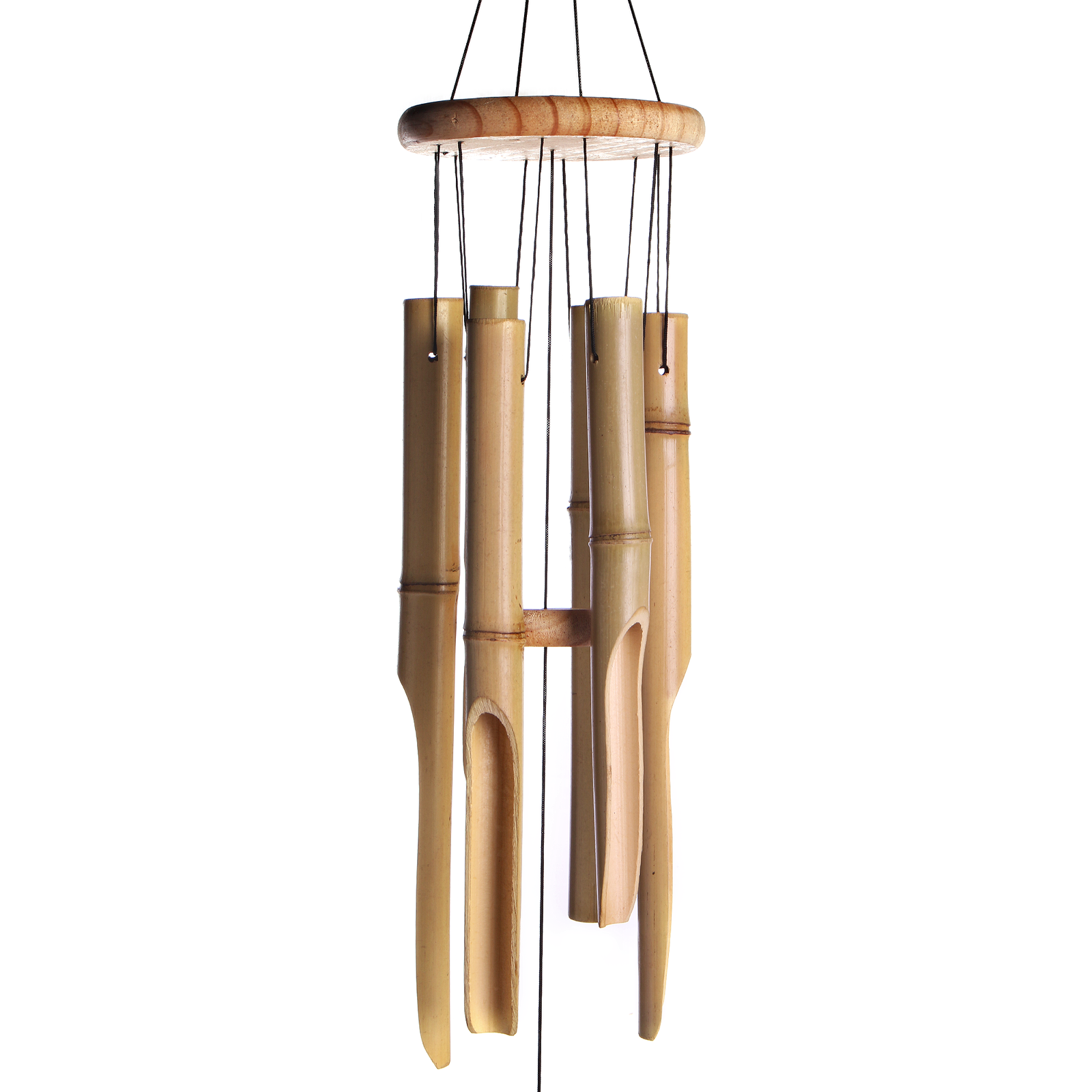 Bamboo Wind Chimes Wooden Chimes Hanging Garden Decoration   M&W