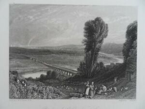 Genuine-antique-old-engraving-French-Bridges-of-St-Cloud-and-Serves