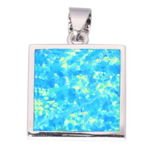 """Blue White Fire Opal Silver Popular for Women Jewelry Pendant Gems 1/"""" OD6706-07"""