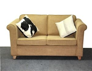 Image Is Loading Modern Two Seater Sofa Mango Wood Cotton Fabric