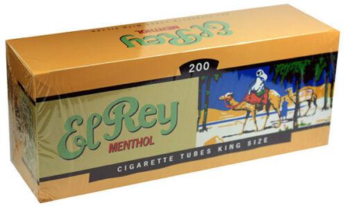 Five Cartons El Rey Menthol King Size Filter Tubes 200ct RYO//MYO 5